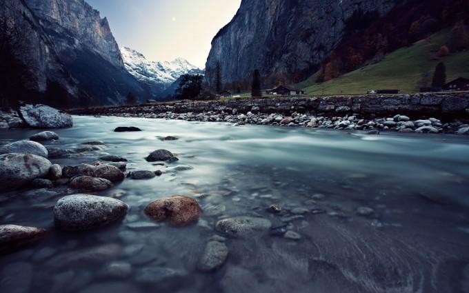 river wallpaper rocks