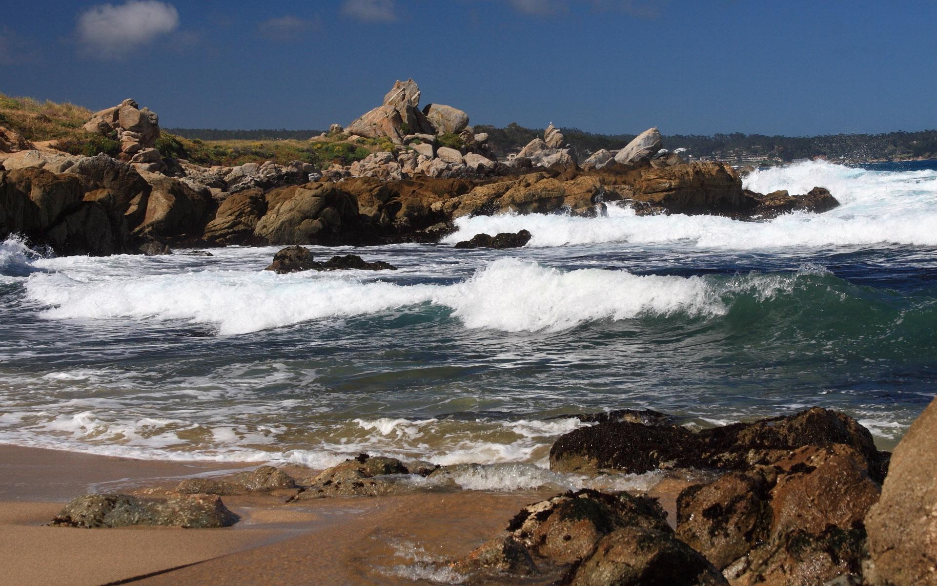 scenery beach waves