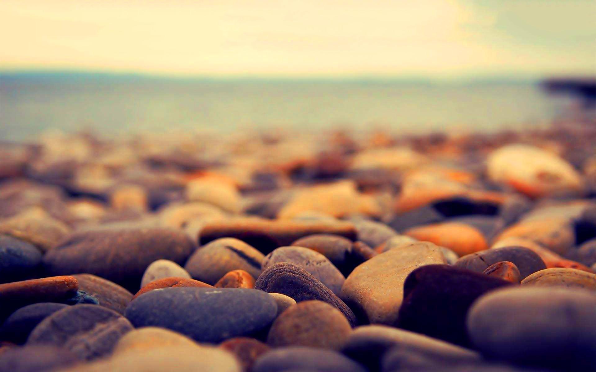 stone wallpaper beach