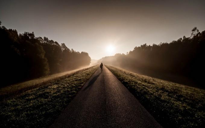 sunrise wallpaper morning fog