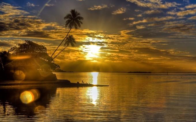 sunrise wallpaper tropical