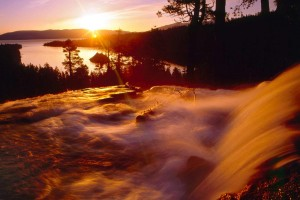 sunrise wallpaper waterfall