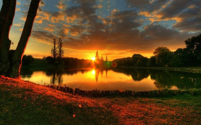 sunset desktop