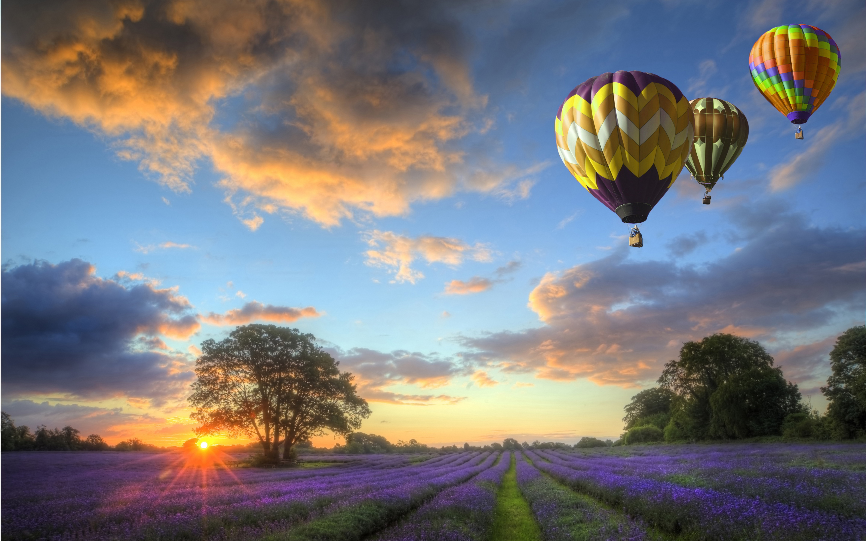 sunset images balloons