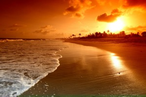 sunset images download beach
