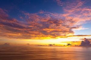 sunset images horizon