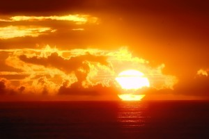 sunset images ocean sky