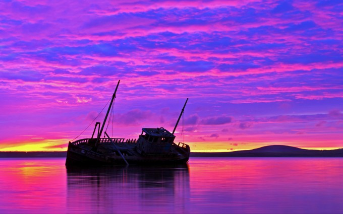 sunset images ship