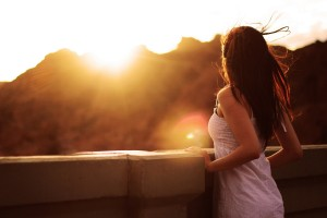 sunset images woman