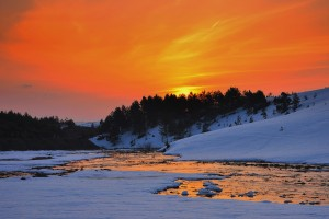 sunset pictures winter