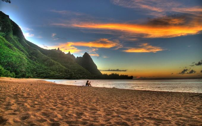 sunset wallpapers beach sand
