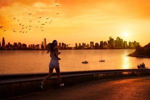 sunset wallpapers jogging