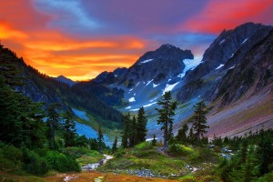 sunset wallpapers mountains