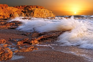sunset wallpapers ocean waves