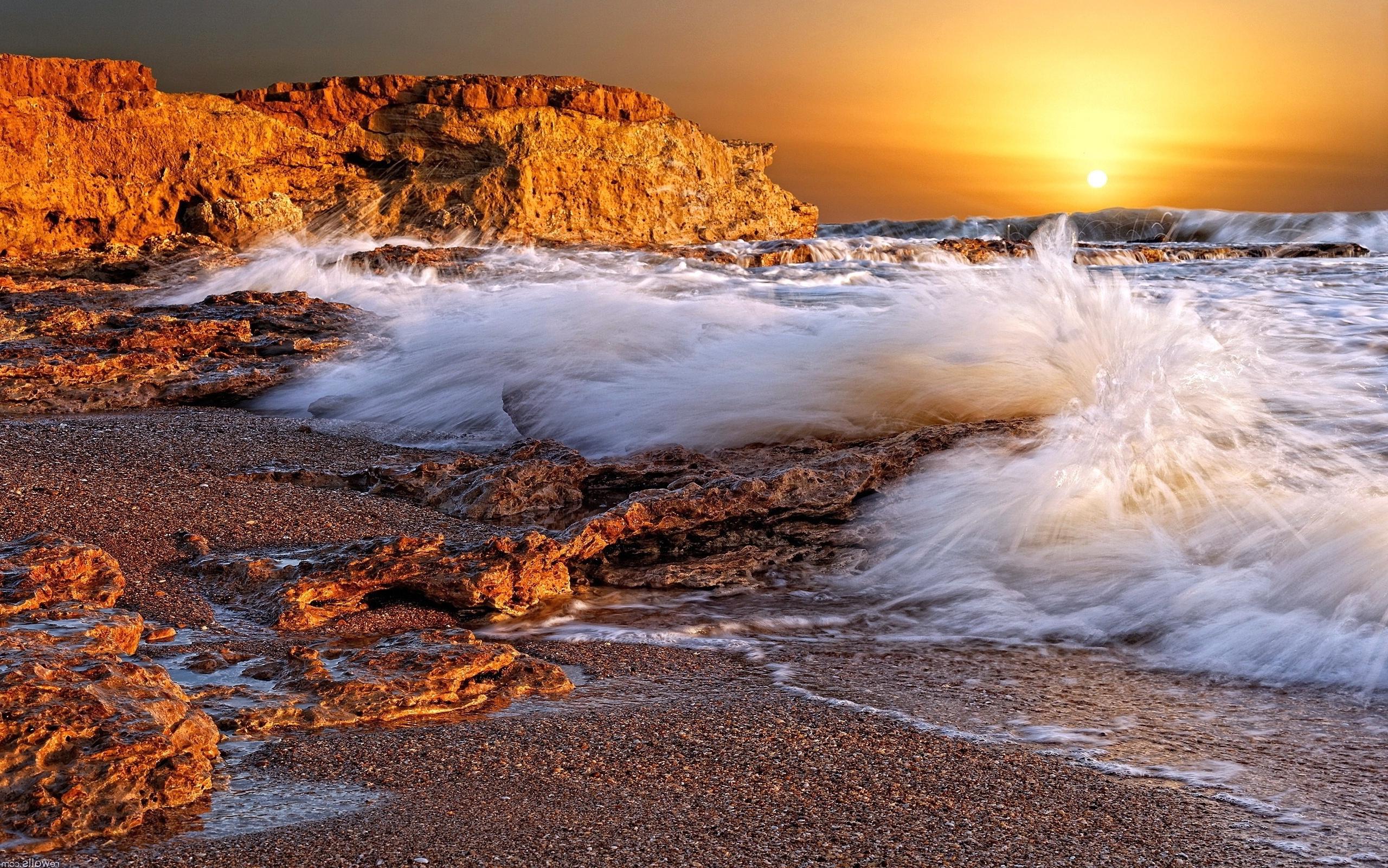 sunset wallpapers ocean waves