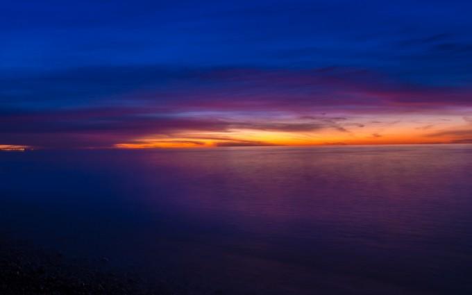sunset wallpapers purple hd