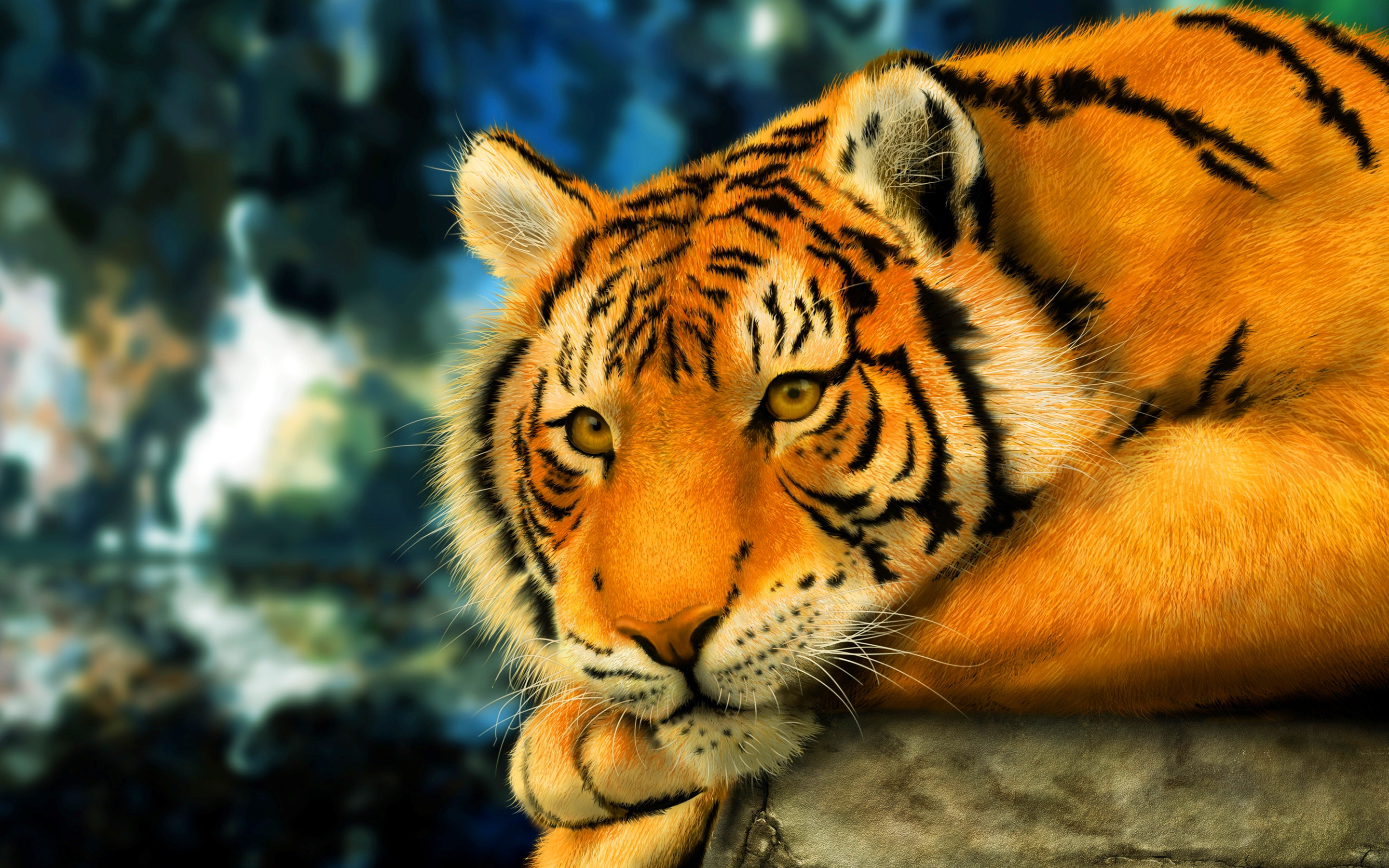 tiger 3d anime - hd desktop wallpapers | 4k hd