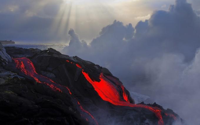 volcano wallpaper download