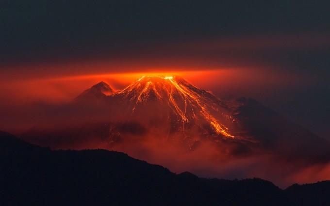 volcano wallpaper lava