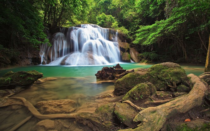 waterfall images forest
