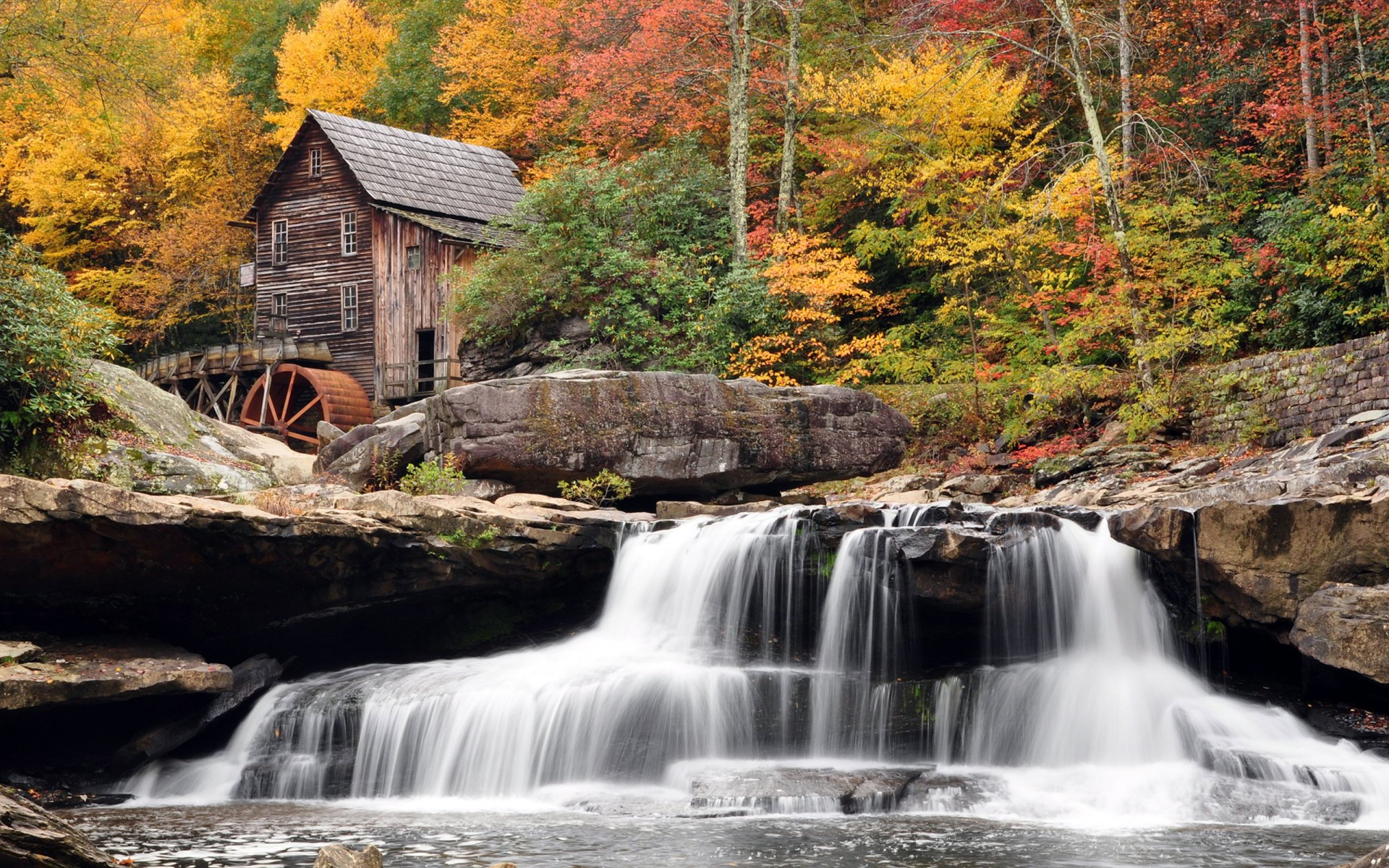 waterfall wallpaper hd nature