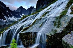 waterfall wallpaper rocky
