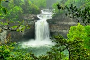 waterfalls wallpaper desoto