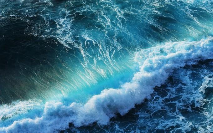 wave wallpaper blue