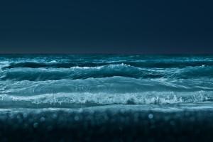 wave wallpaper evening