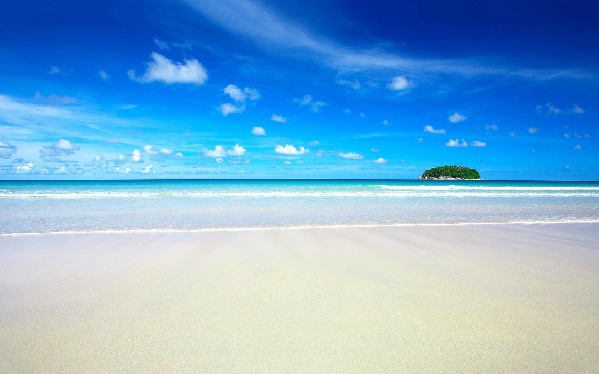 white sand beach - HD ...