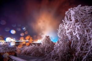niagara winter night