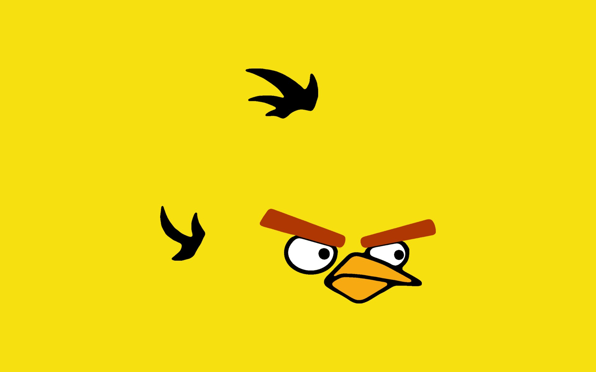 gallery for angry birds yellow bird wallpaper