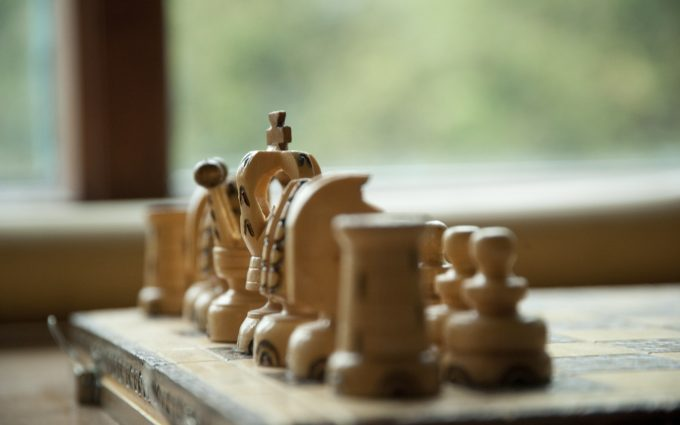 chess pieces wood game