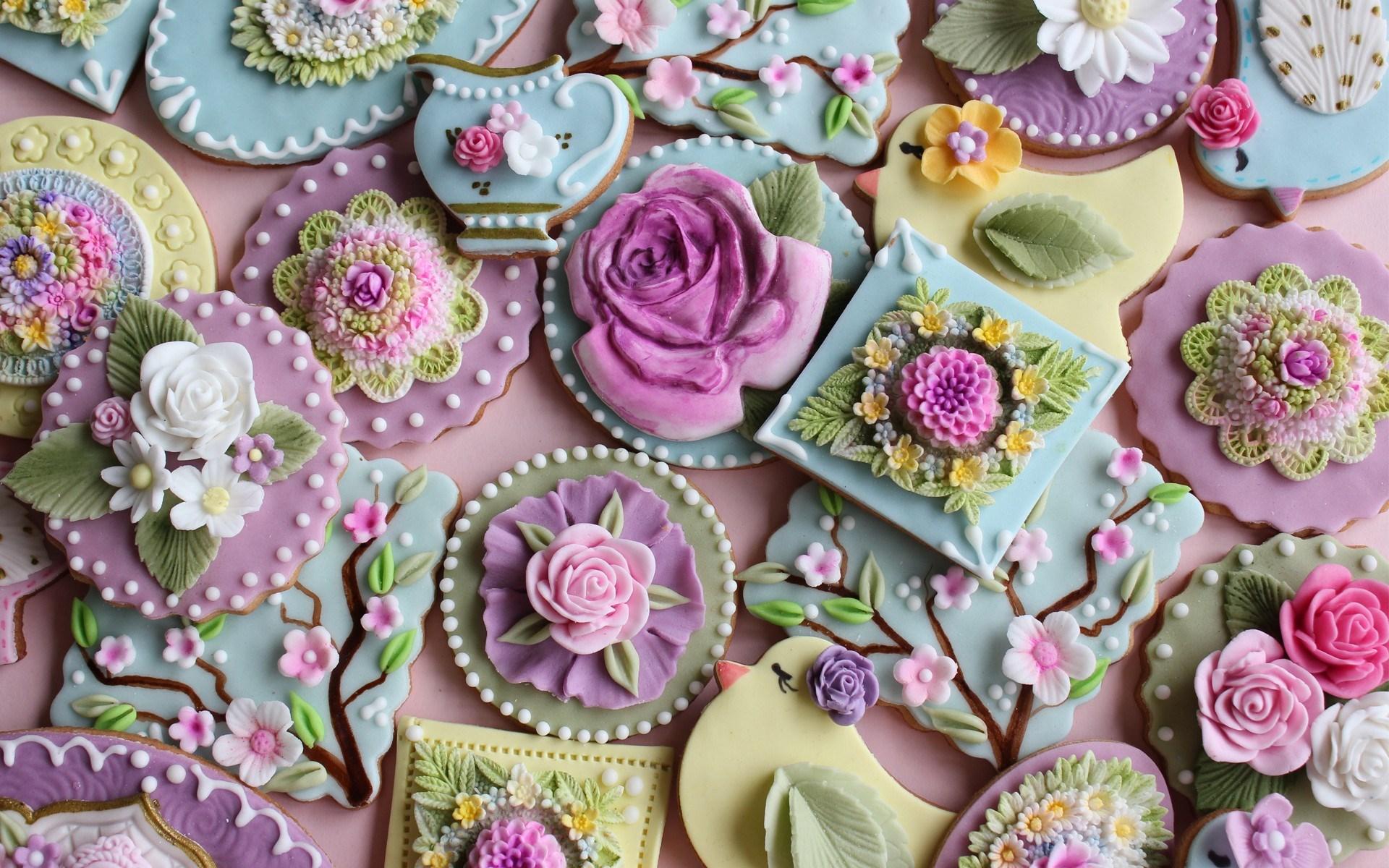 cookies flowers food