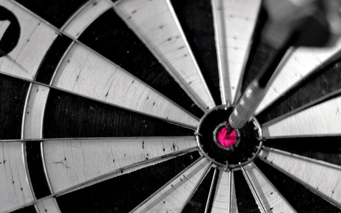 dartboard bullseye sport macro