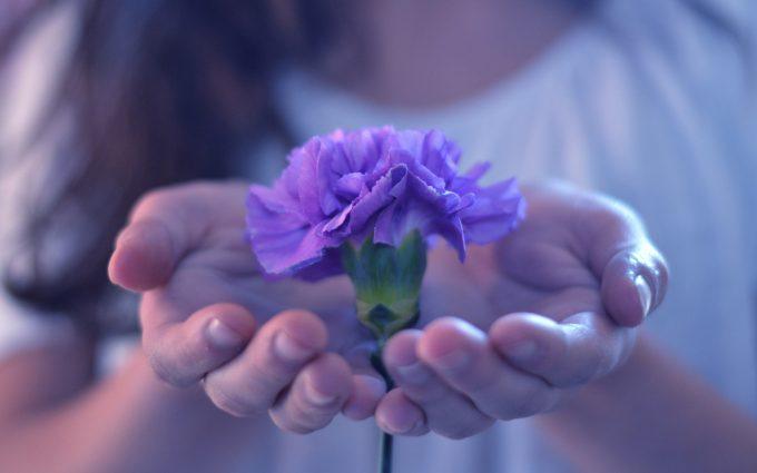 flower hands girl mood
