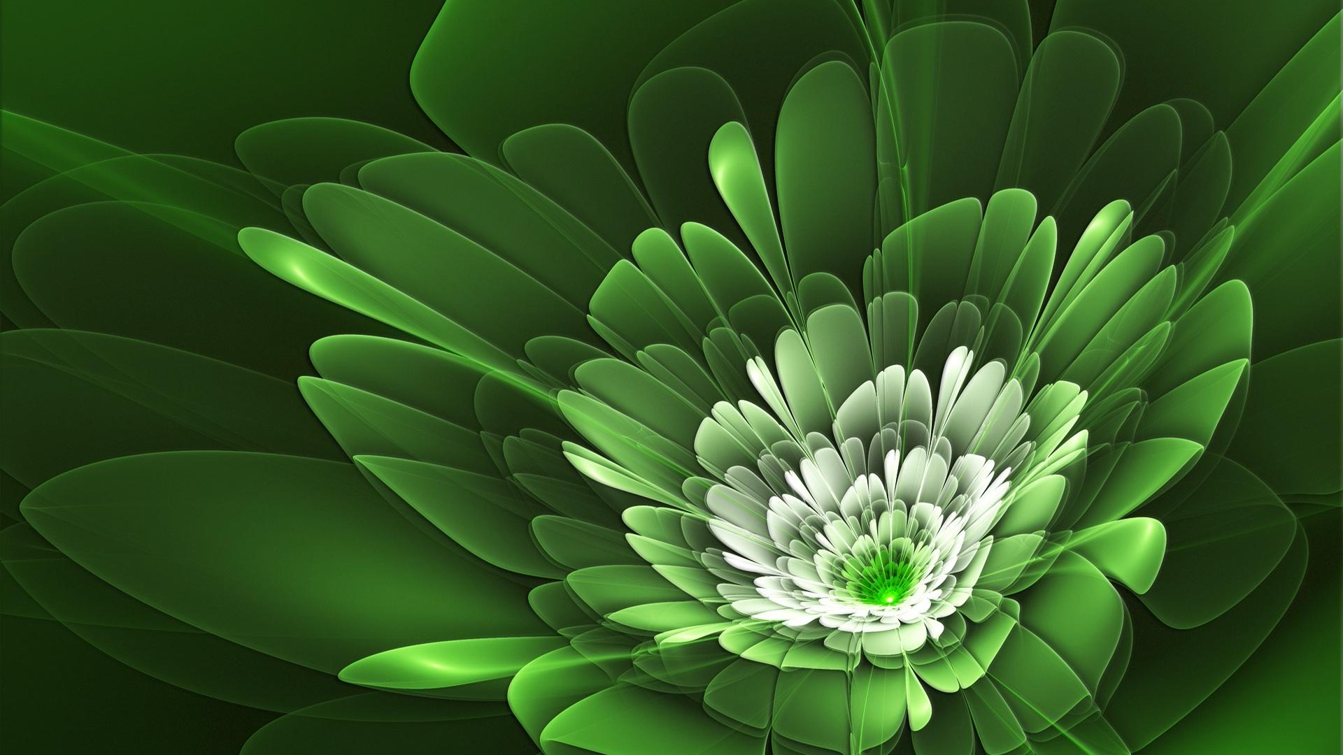 green flowers cute