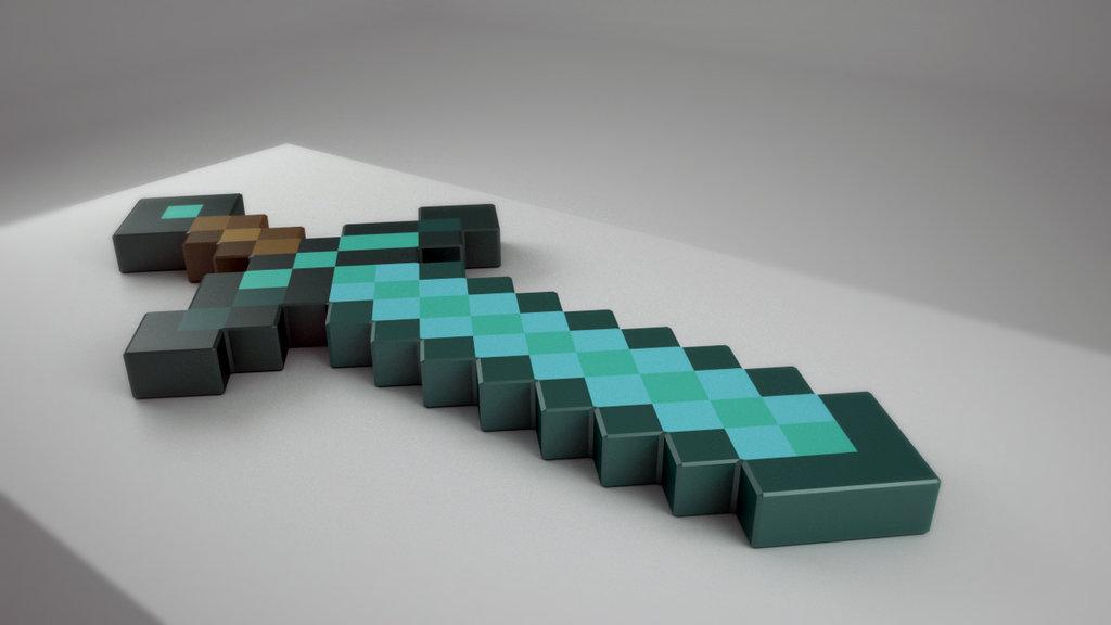 Minecraft Diamond Sword Wallpaper minecraft foam diamond sword ...