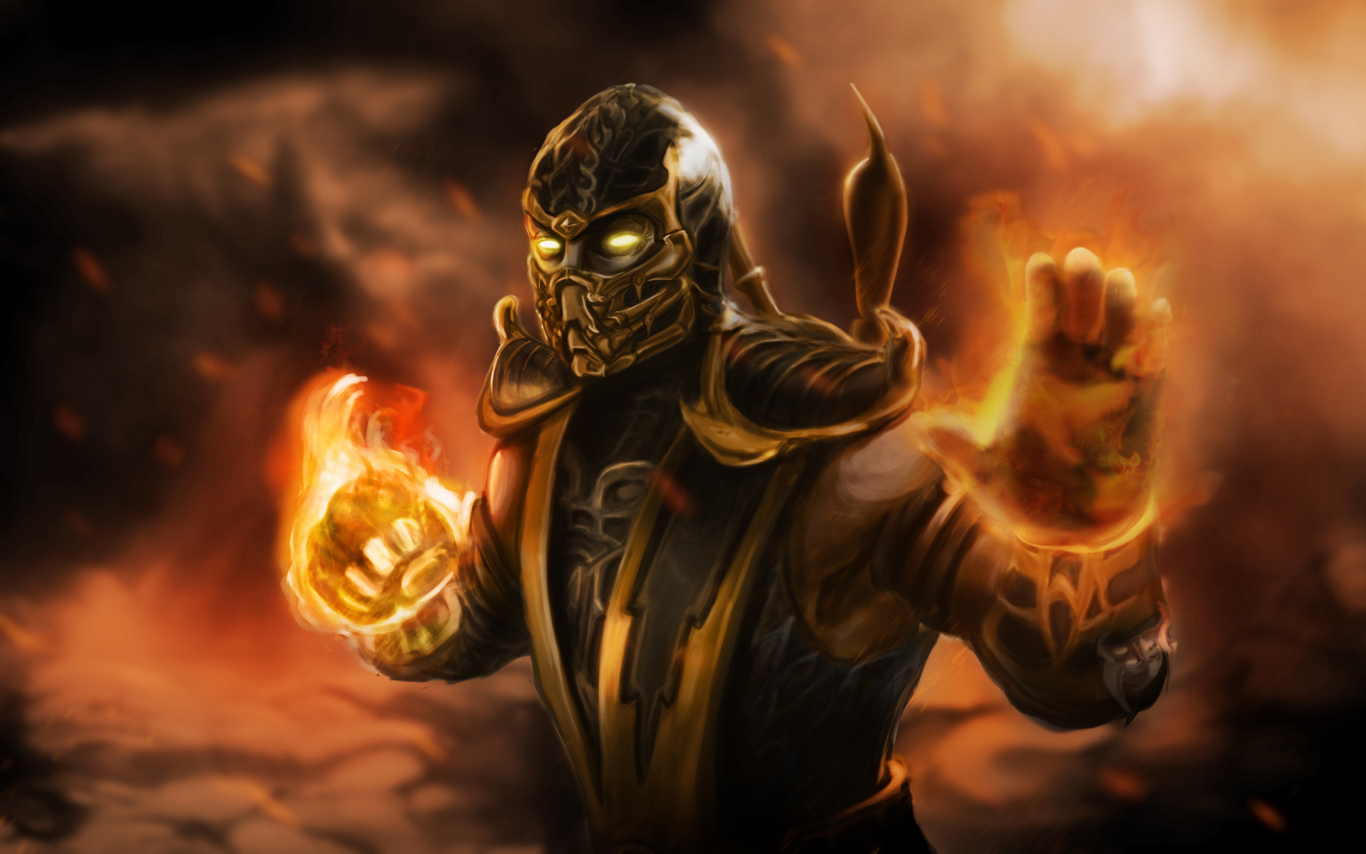mortal kombat background A4
