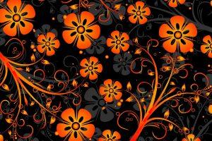 orange flowers texture