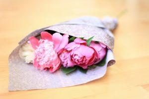 peonies flowers bouquet