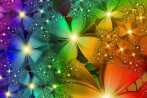 rainbow flowers image