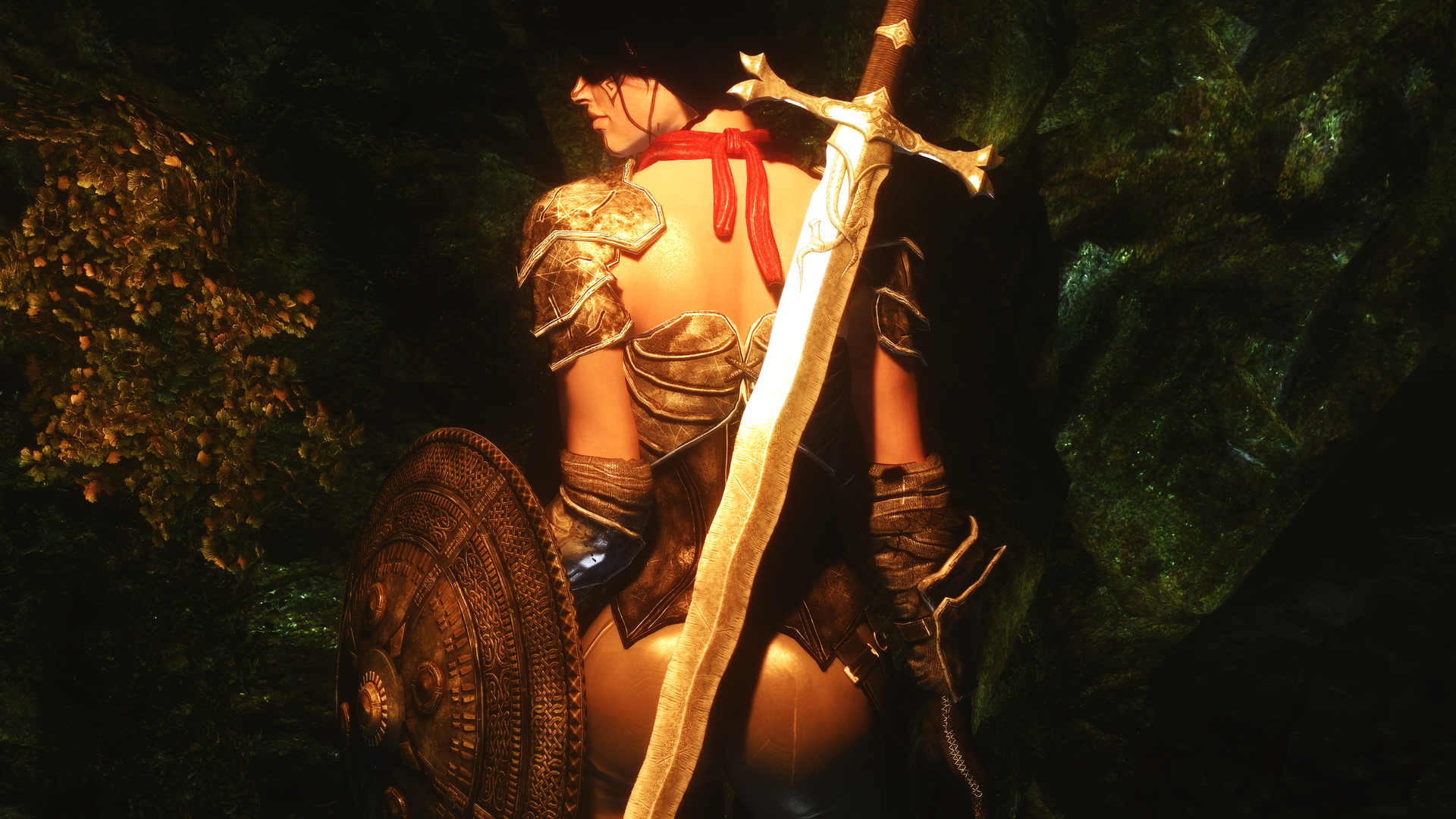 the elder scrolls v skyrim girl sword weapon background warrior ...