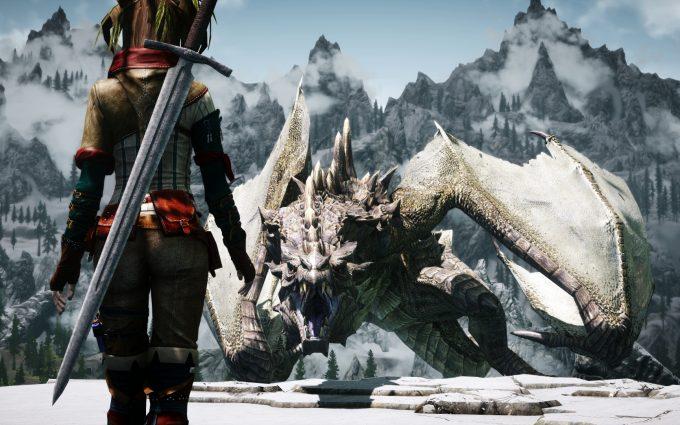 skyrim dragon hd
