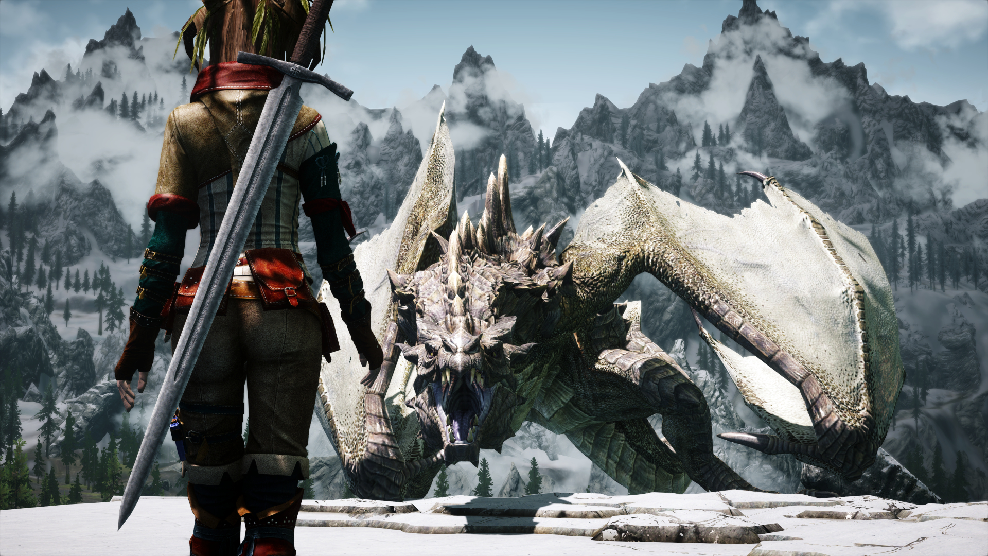 skyrim dragon hd