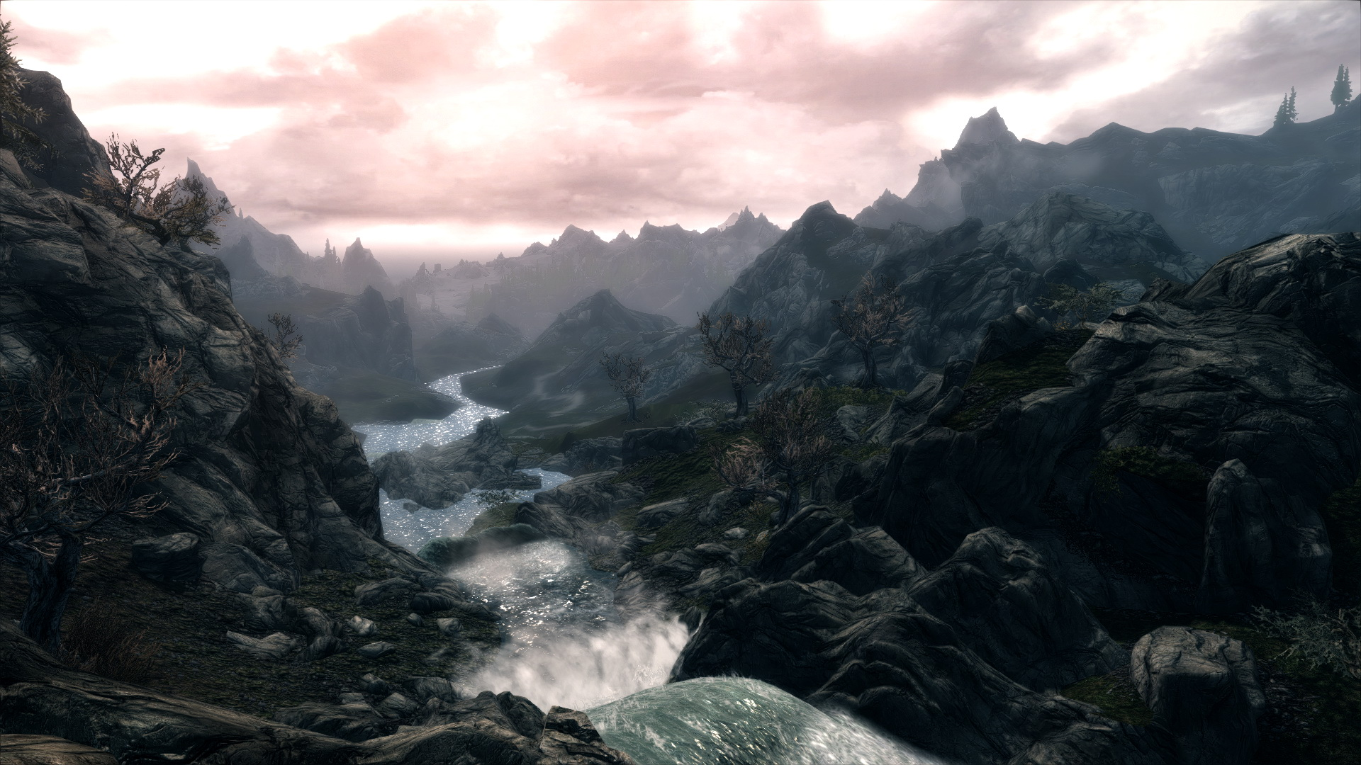 skyrim landscape wallpaper