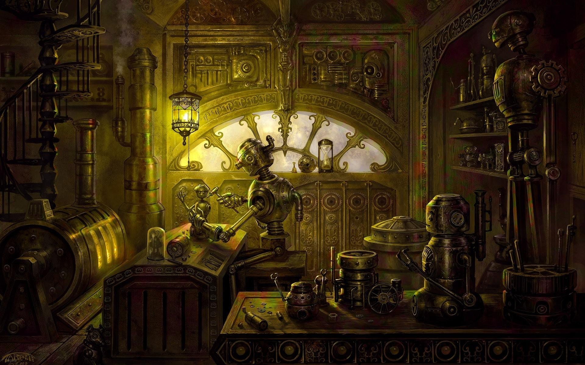 steampunk background A1