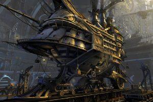 steampunk background A3