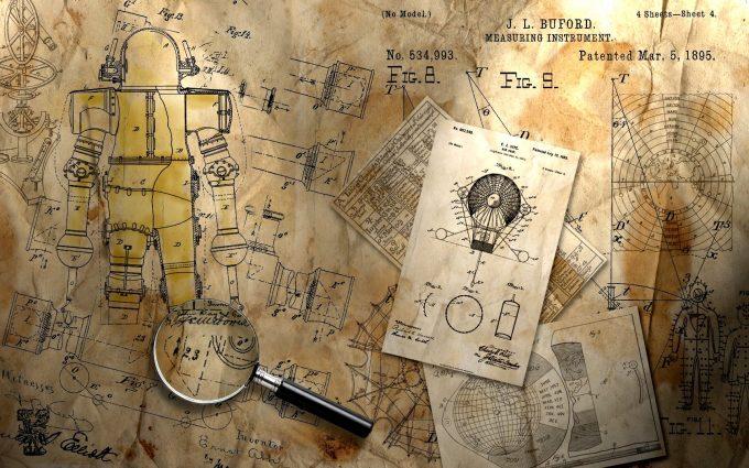 steampunk background A4