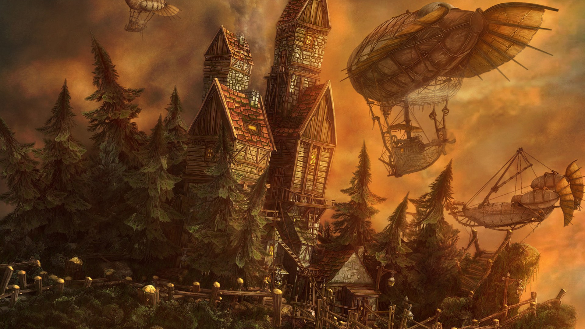 steampunk wallpaper 1080p